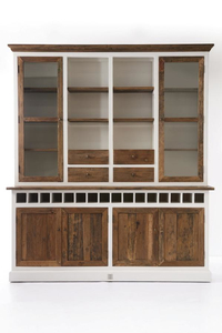 Skab - Driftwood Cabinet with Winerack double