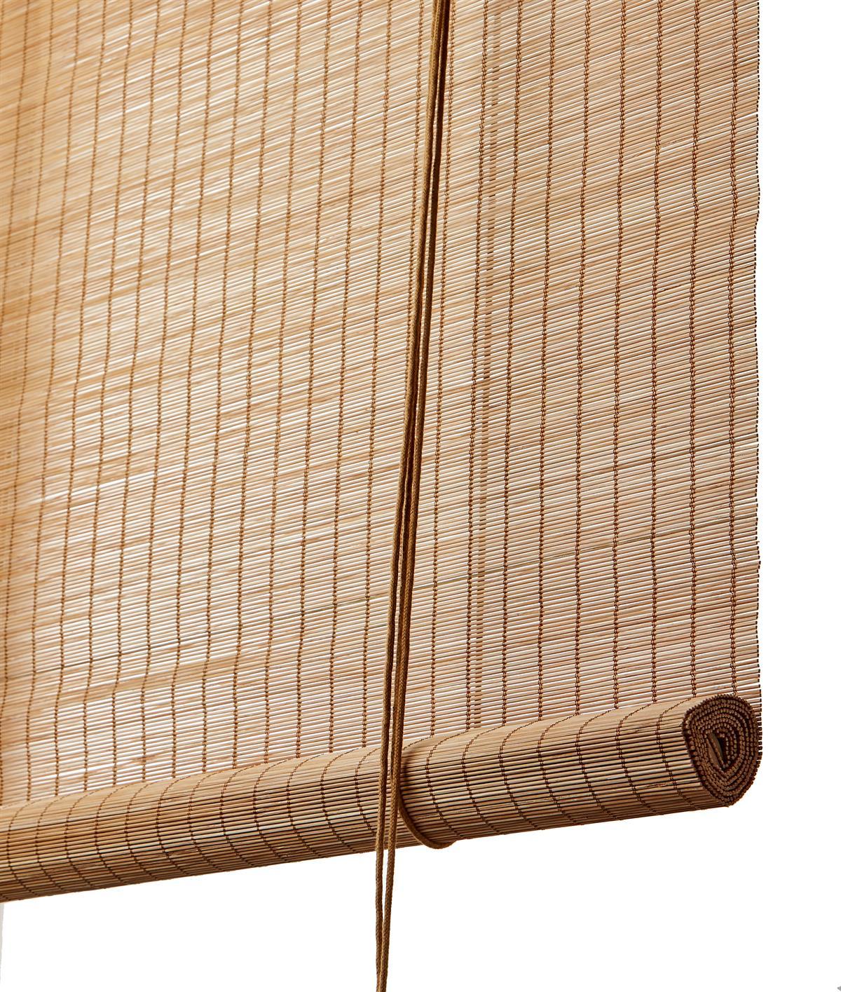 bambus rullegardin BRUN FIN BAMBUS RULLEGARDIN bambus rullegardin
