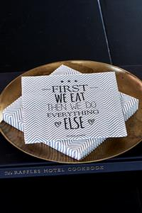 Papirserviet -  Paper Napkin First We Eat